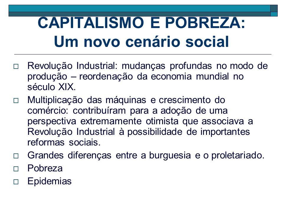 CAPITALISMO E POBREZA: Um novo cenário social Revolução Industrial: mudanças profundas no modo de produção – reordenação da economia mundial no século