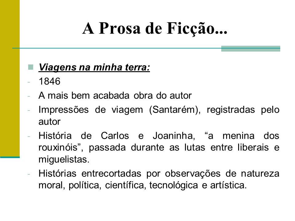 A Prosa de Ficção...