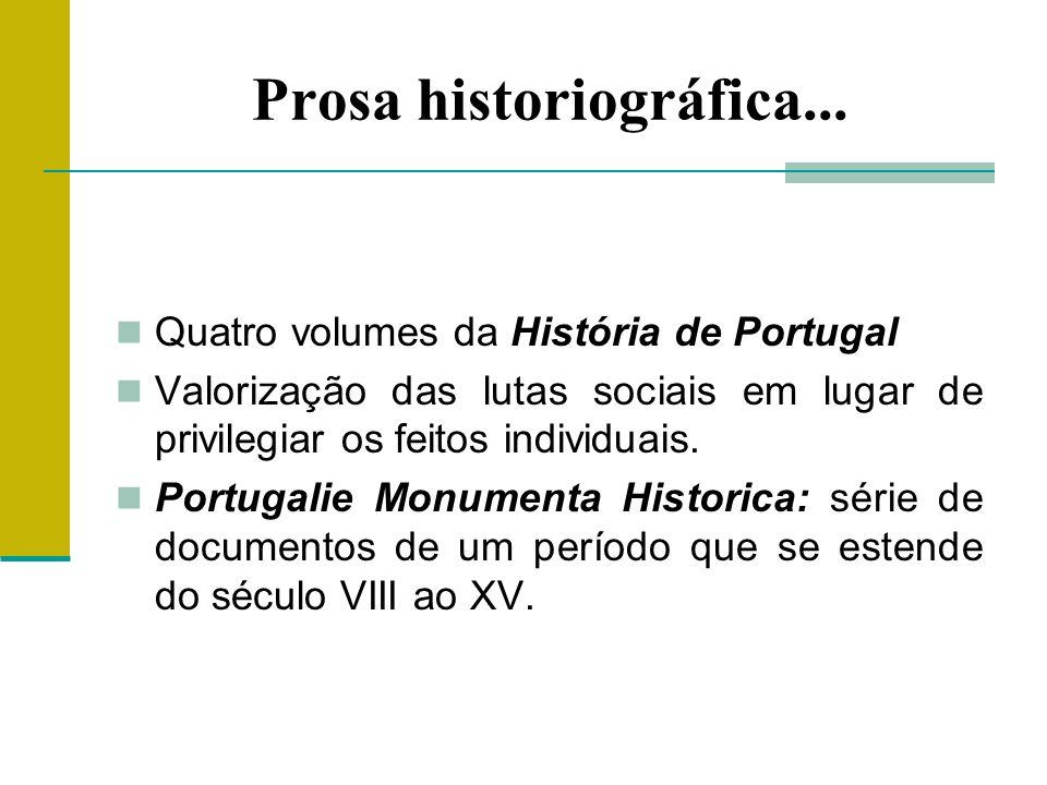 Prosa historiográfica...