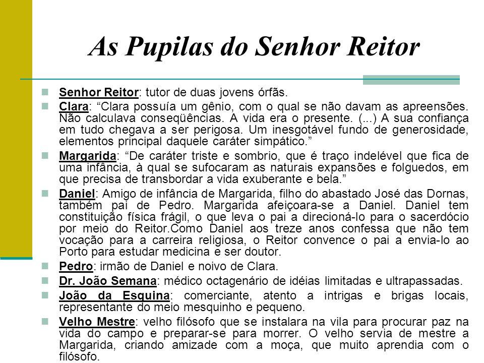 As Pupilas do Senhor Reitor Senhor Reitor: tutor de duas jovens órfãs.