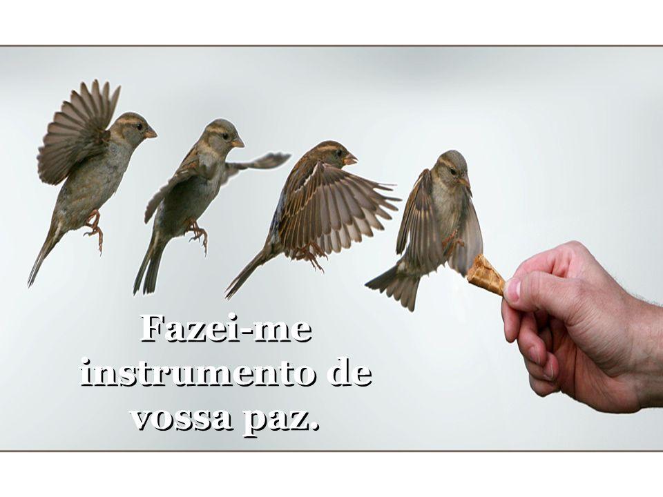 Fazei-me instrumento de vossa paz. Fazei-me instrumento de vossa paz.
