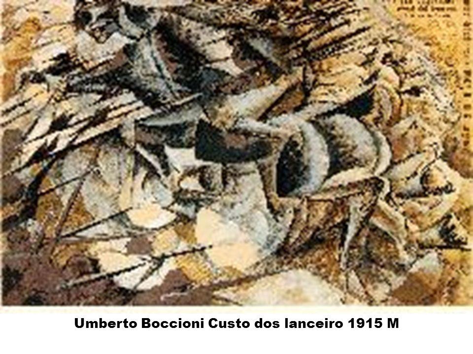Umberto Boccioni Custo dos lanceiro 1915 M