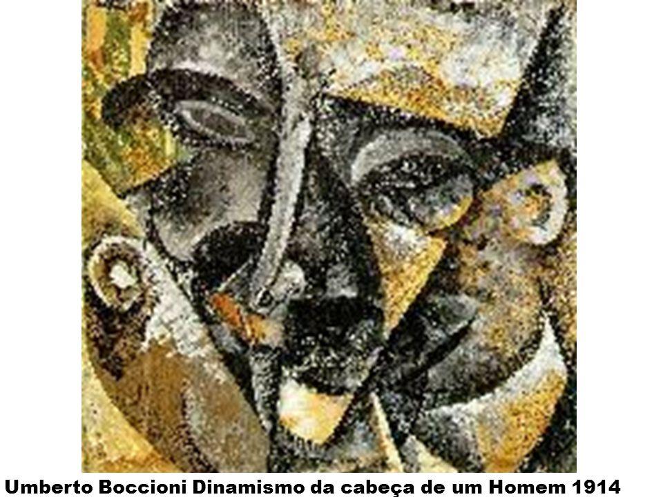 Umberto Boccioni Dinamismo da cabeça de um Homem 1914