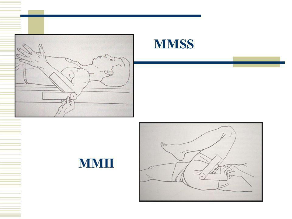 Ex. Flexão de cotovelo de 0-115 graus flexão está limitada em 30 graus