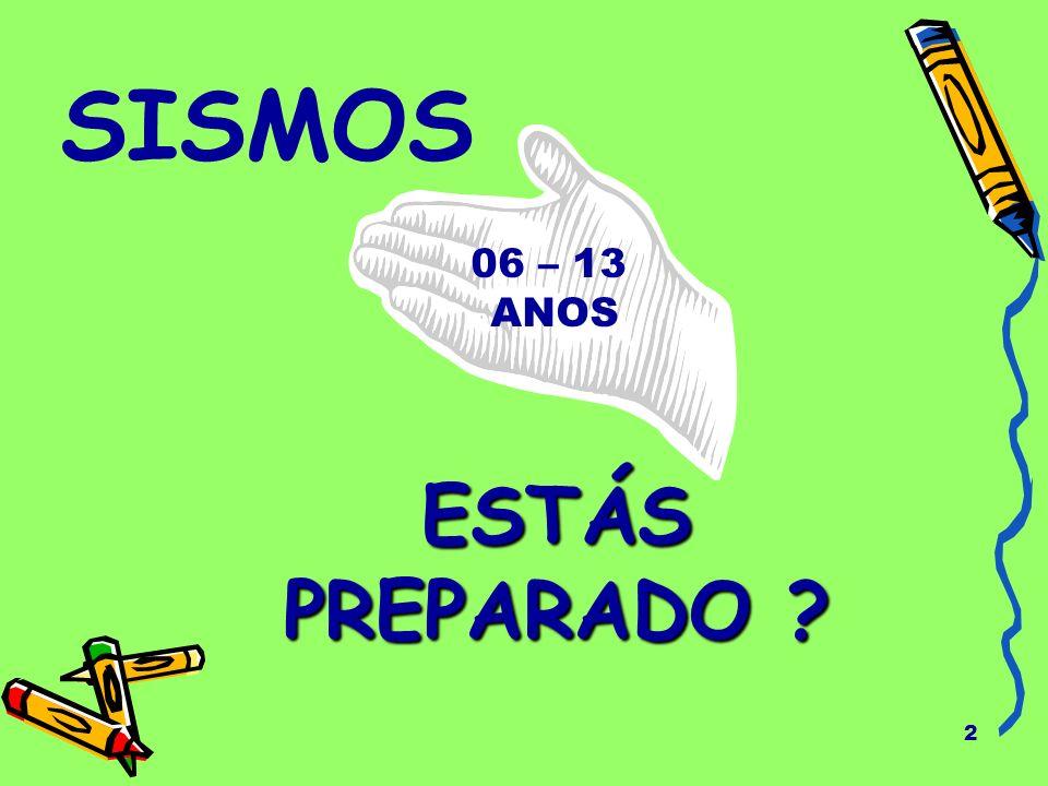 23 PLANO DE PROTECÇÃO Os adultos e as crianças devem dialogar sobre o que fazer se ocorrer um sismo.