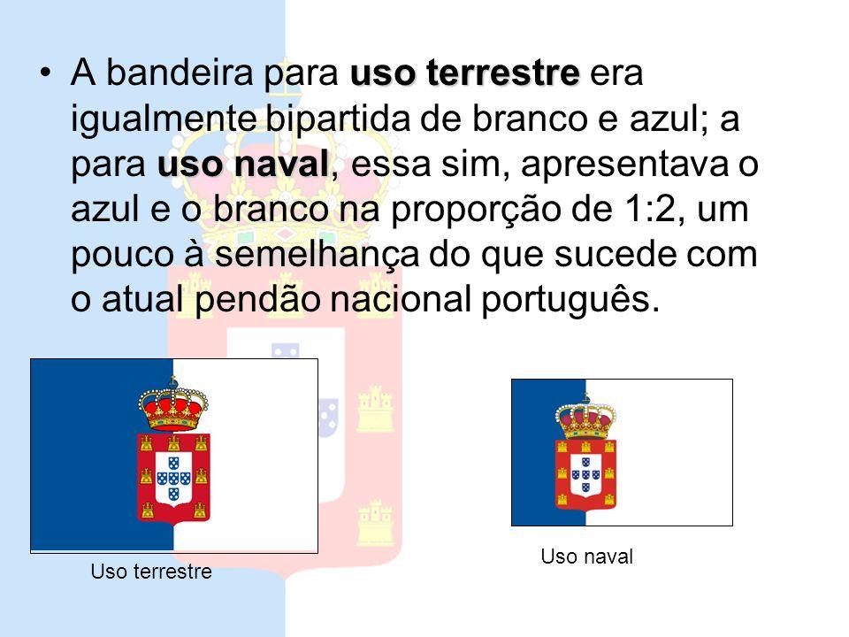 Este determinava que a bandeira nacional passasse a ser verticalmente bipartida de branco e azul, ficando o azul do lado do mastro; sobre o conjunto,