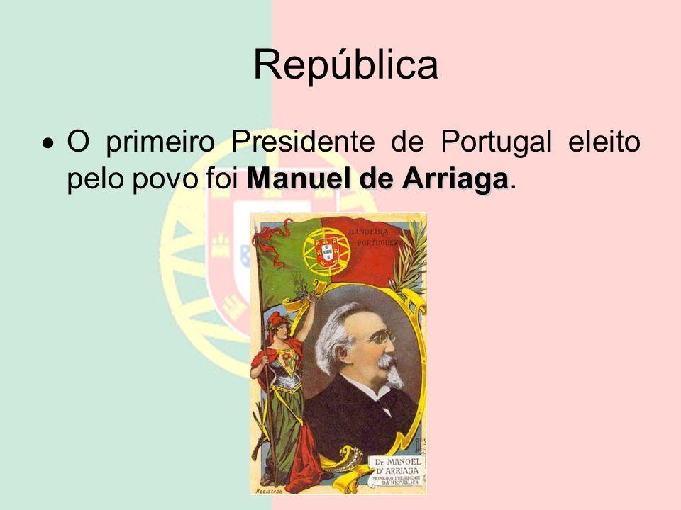República O primeiro presidente foi Teófilo Braga, mas foi apenas presidente do Governo Provisório até às eleições.