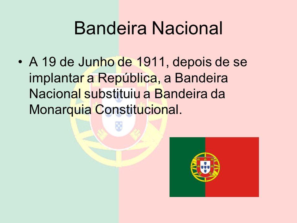 República bandeira hino A implantação da República fez com que Portugal mudasse a sua bandeira e o seu hino para aqueles que temos atualmente e o nome
