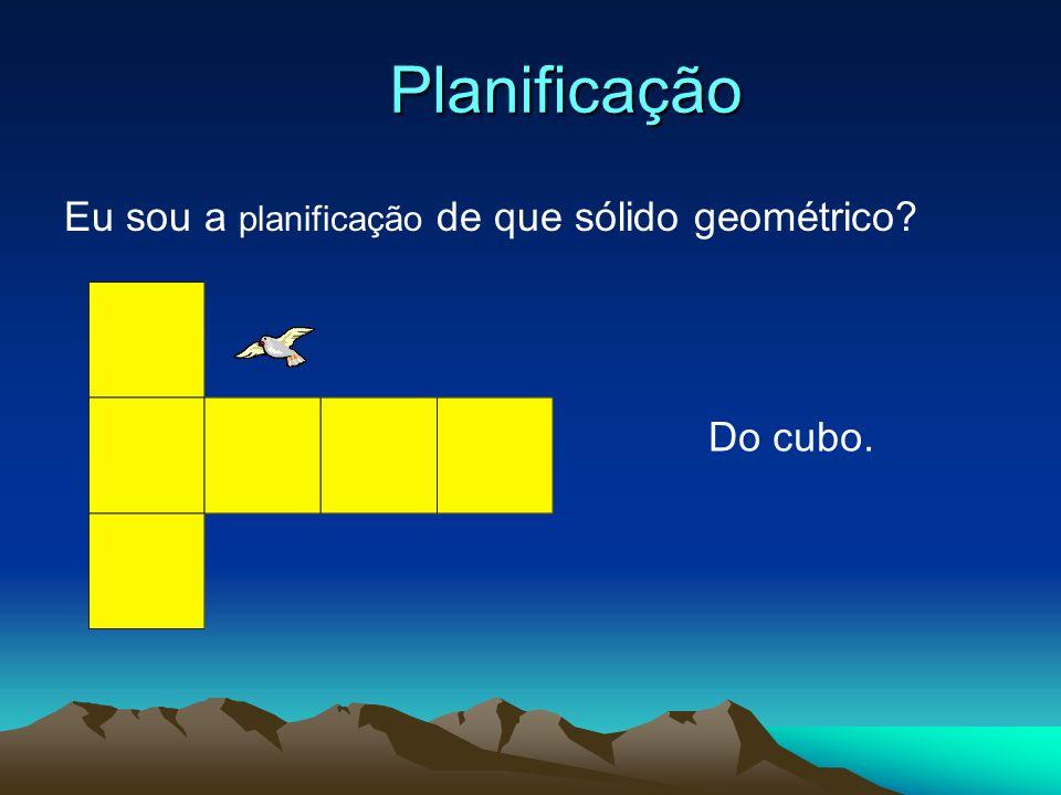 Planificação Eu sou a planificação de que sólido geométrico?
