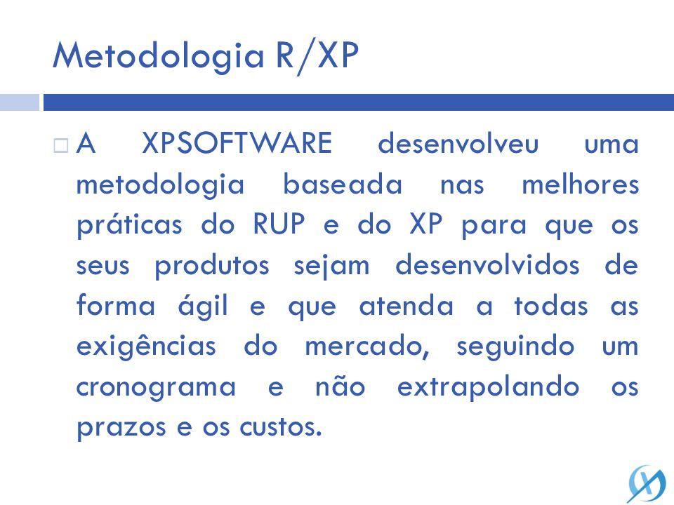 Metodologia R/XP A XPSOFTWARE desenvolveu uma metodologia baseada nas melhores práticas do RUP e do XP para que os seus produtos sejam desenvolvidos d