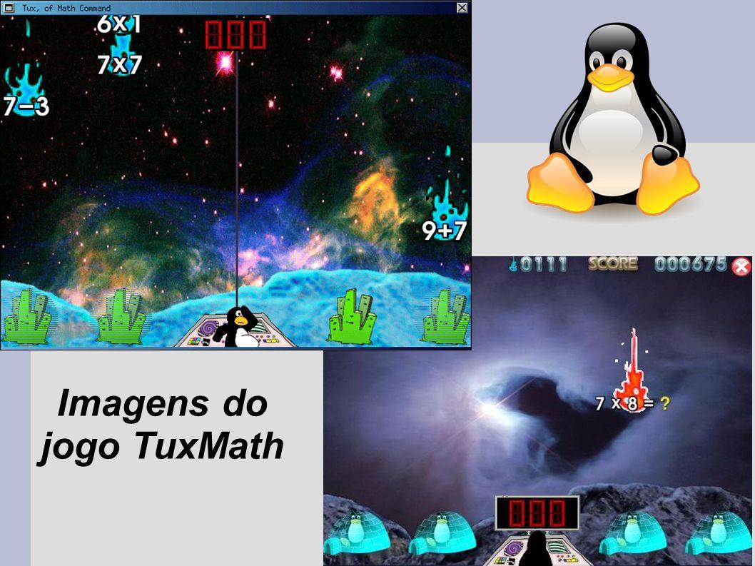 Imagens do jogo TuxMath