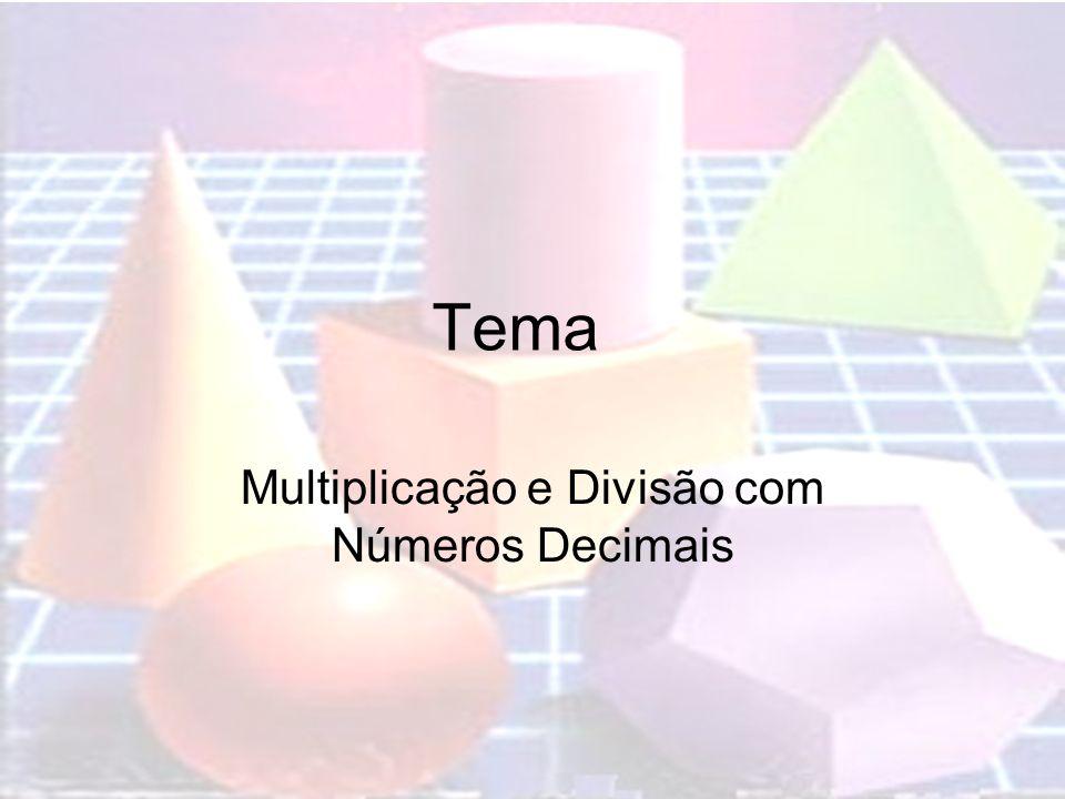 Tema Multiplicação e Divisão com Números Decimais