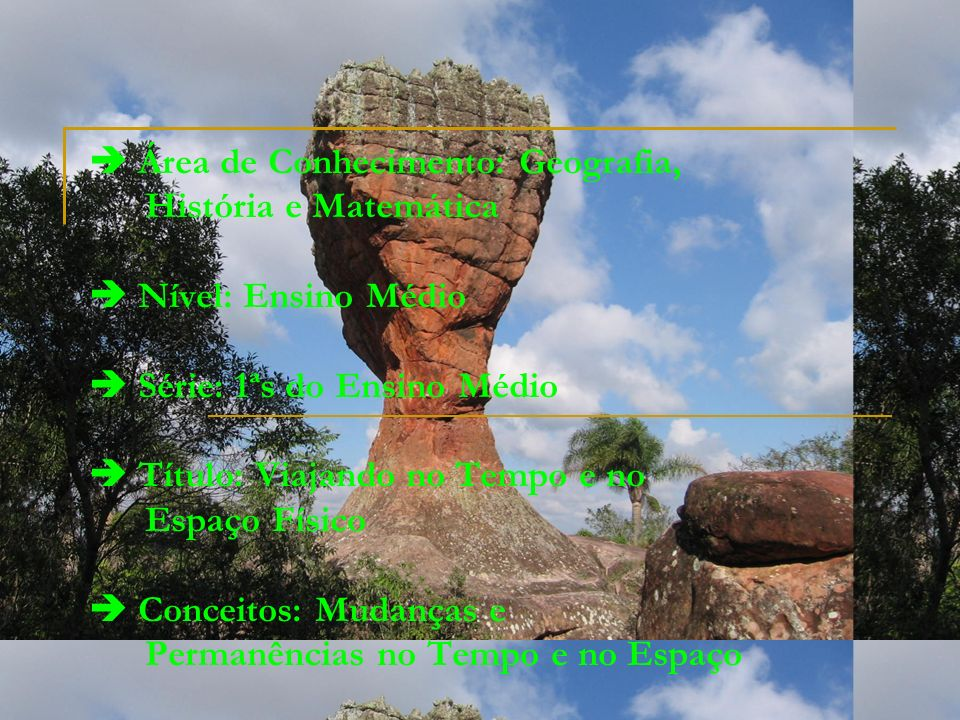 Pré-Requisitos Perceber as heranças culturais deixadas pelos povos que ocuparam e colonizaram o Brasil; Entender as transformações no espaço físico provocadas pelos fenômenos naturais; Verificar as diferentes formas geométricas nas várias estruturas (Jardim Botânico, museu Oscar Niemeyer, Ópera de Arame).
