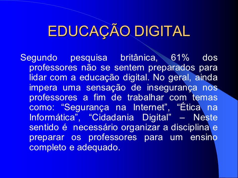 EDUCAÇÃO DIGITAL Porém os professores não precisam entender tudo de tecnologia.