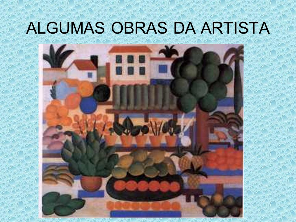 ALGUMAS OBRAS DA ARTISTA