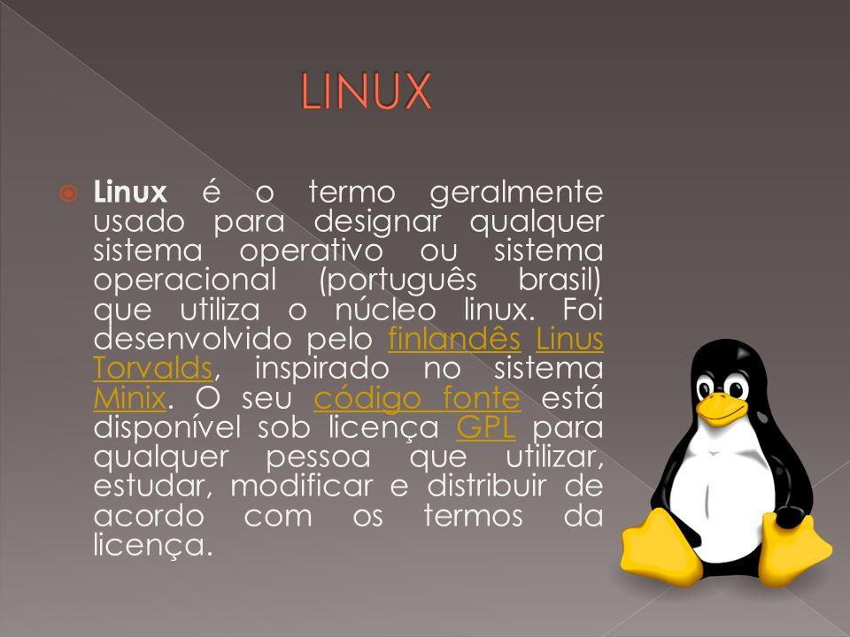Linux é o termo geralmente usado para designar qualquer sistema operativo ou sistema operacional (português brasil) que utiliza o núcleo linux. Foi de