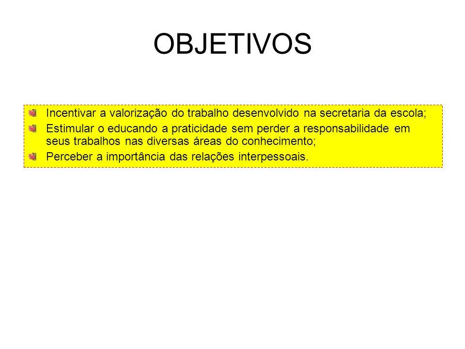 Tema: A Importância do Setor Administrativo na Escola; Assunto: Organização e Praticidade na Secretaria da Escola; Ano: 2009; Assistente de Educação: