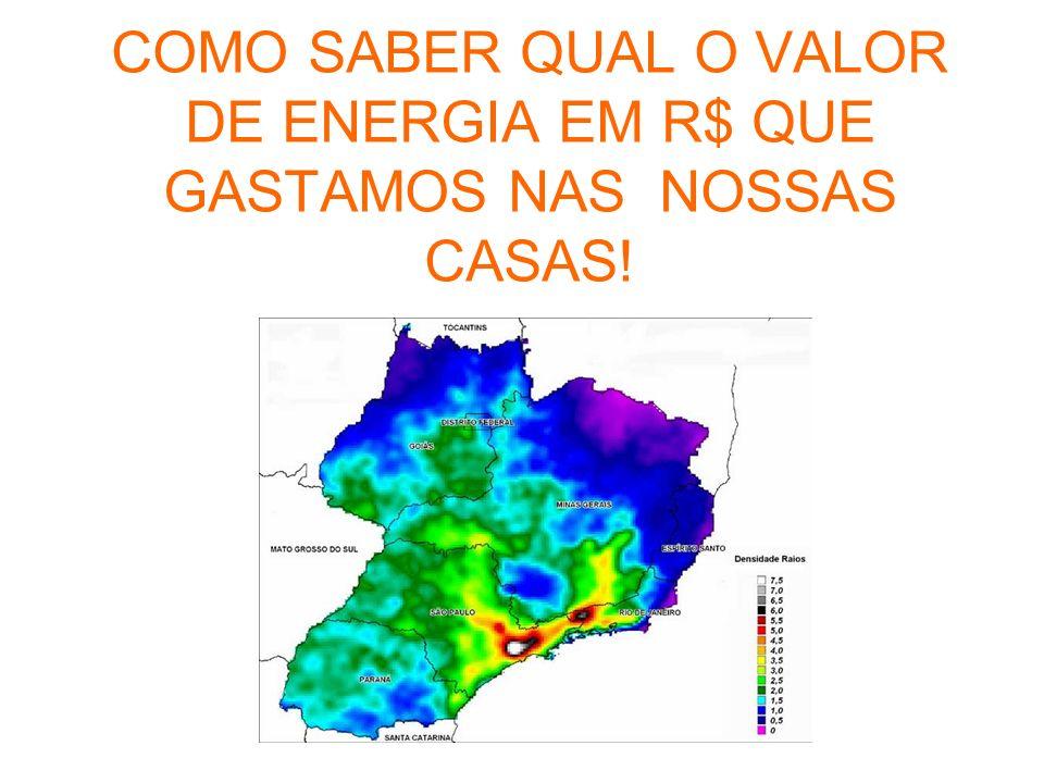 COMO SABER QUAL O VALOR DE ENERGIA EM R$ QUE GASTAMOS NAS NOSSAS CASAS!