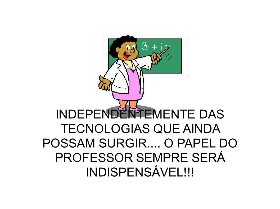 INDEPENDENTEMENTE DAS TECNOLOGIAS QUE AINDA POSSAM SURGIR....
