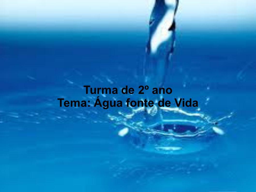 Turma de 2º ano Tema: Água fonte de Vida