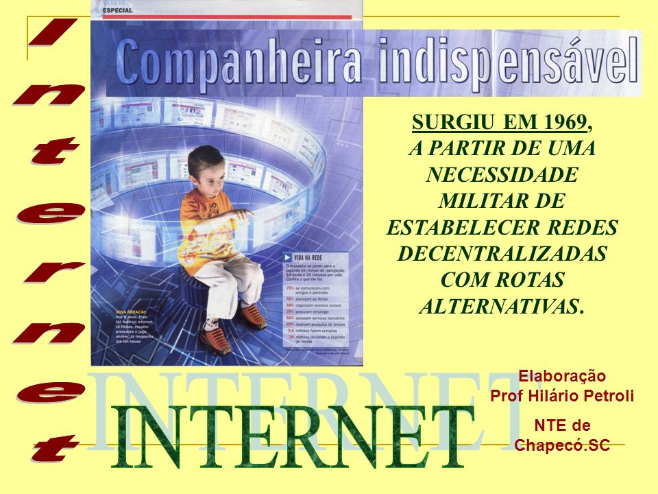 - disponibilização de páginas (home pages) - visitas on-line a: museus, bibliotecas, universidades...