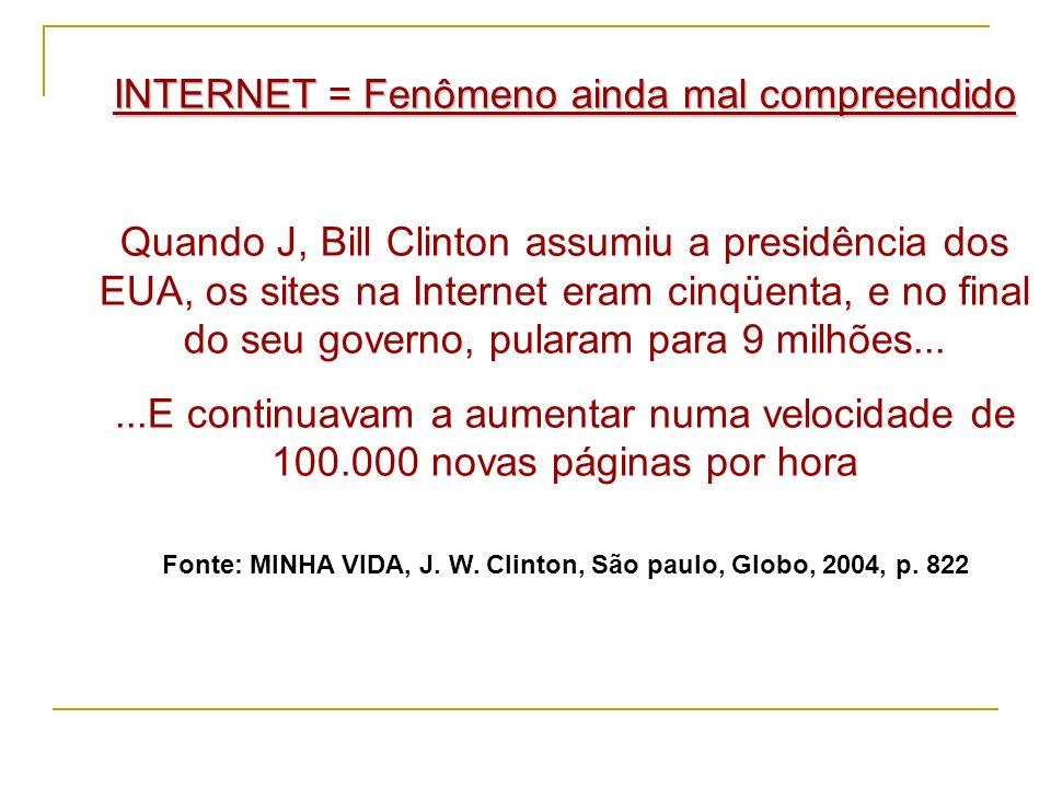 O nome Internet só começou a ser usado em 1982.
