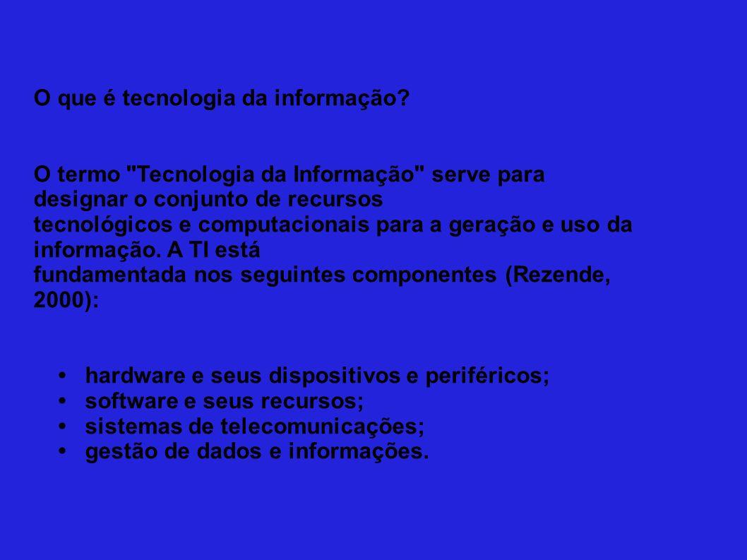 Por que usar tecnologia da informação.