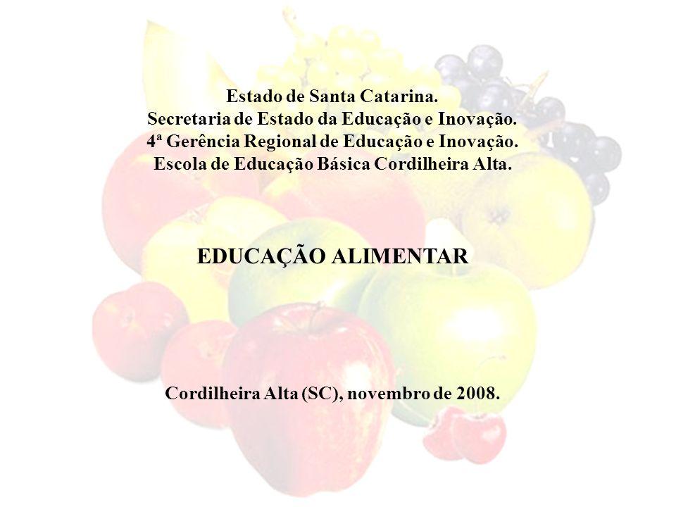 Estado de Santa Catarina. Secretaria de Estado da Educação e Inovação. 4ª Gerência Regional de Educação e Inovação. Escola de Educação Básica Cordilhe