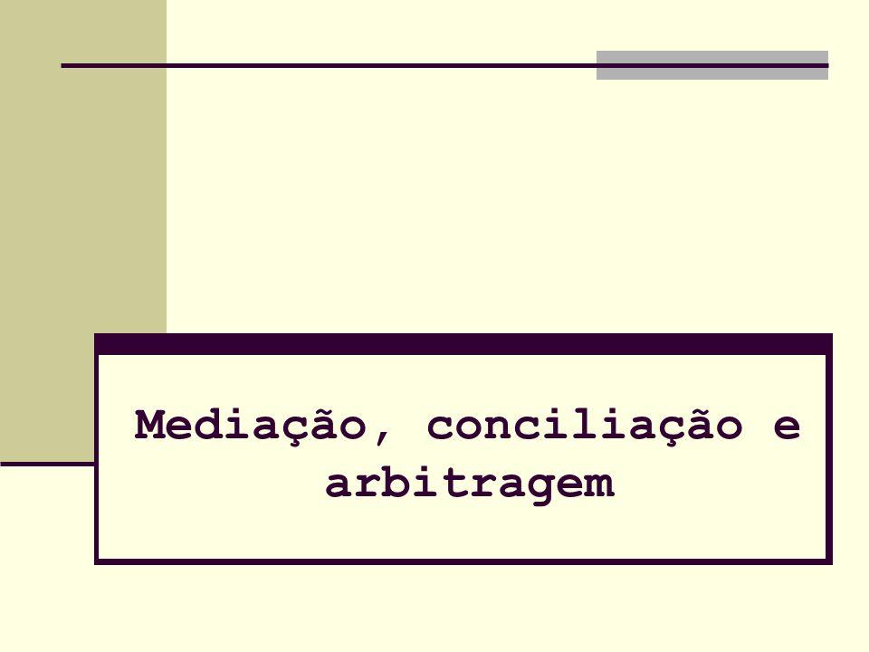 1. Introdução 2. Diferença: a) Mediação b) Conciliação c) Arbitragem Arbitragem