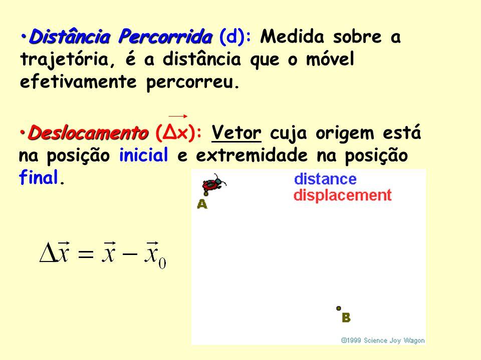 Velocidade Média(v m ) Velocidade Escalar Média(v m ) ***Assim é definido em nossa região.