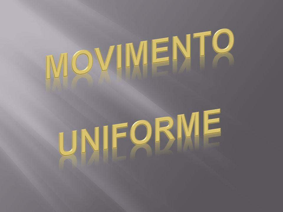 Movimento Retilíneo Uniforme M.R.U Móvel percorre espaços iguais em tempos iguais.