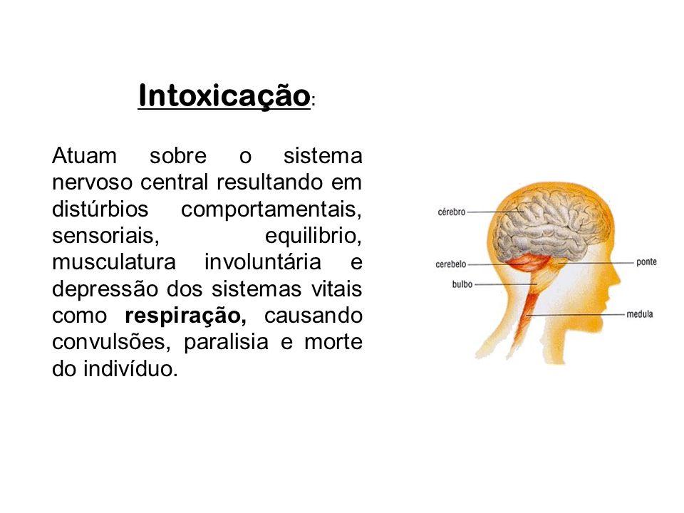 Contaminação: Pode se dar por inalação, ingestão e contato pela pele.