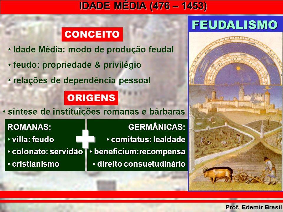 IDADE MÉDIA (476 – 1453) Prof.Edemir Brasil –Tratado de Verdum (843): Divisão do Império.