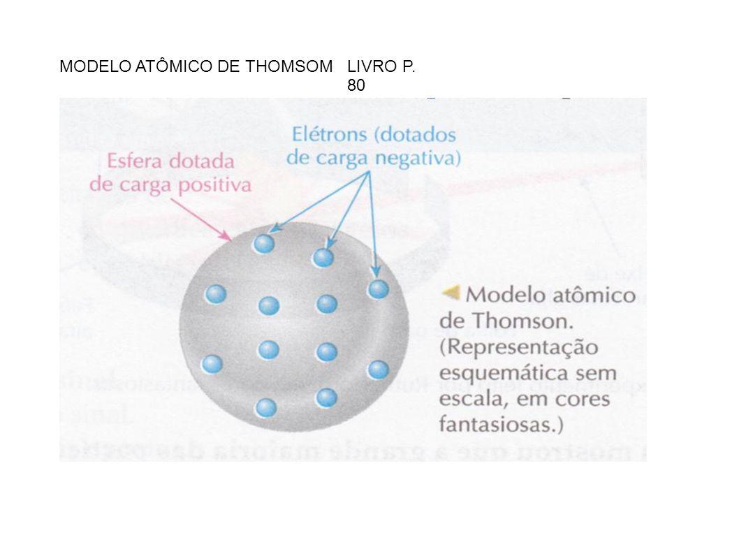 MODELO ATÔMICO DE THOMSOM LIVRO P. 80