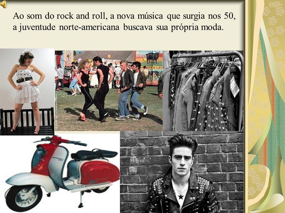 Ao som do rock and roll, a nova música que surgia nos 50, a juventude norte-americana buscava sua própria moda.