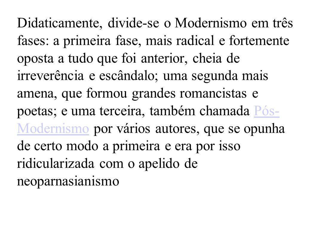 Com a transformação do cenário sócio-político do Brasil, a literatura também transformou- se.