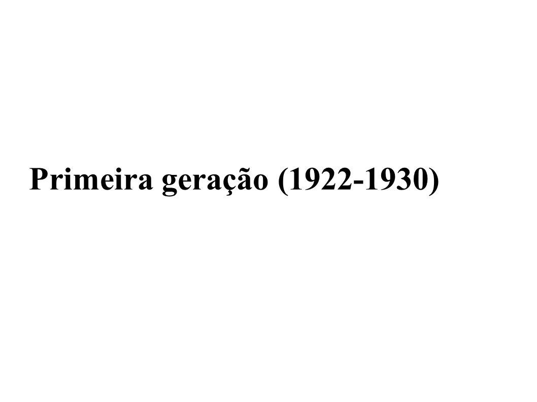 Primeira geração (1922-1930)