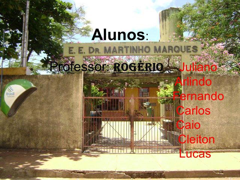 Alunos : Professor : Rogério Juliano Arlindo Fernando Carlos Caio Cleiton Lucas