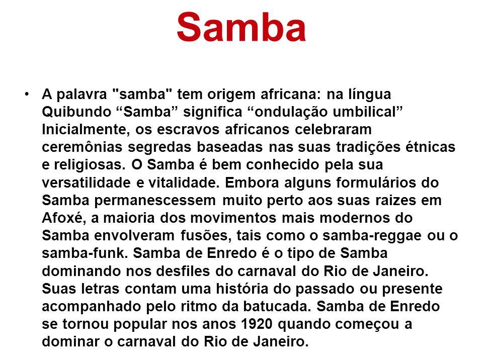 Samba A palavra