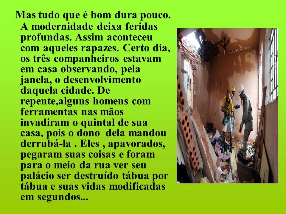 Mato Grosso quis gritar, mas Mané falou: _ Os homens têm razão, nos arranjaremos outro lugar.