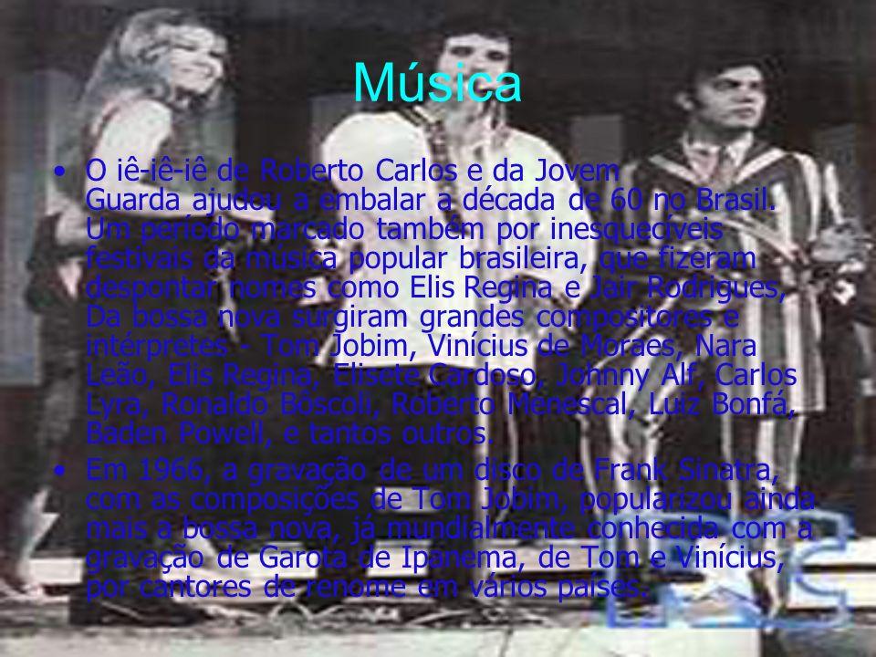 Música O iê-iê-iê de Roberto Carlos e da Jovem Guarda ajudou a embalar a década de 60 no Brasil. Um período marcado também por inesquecíveis festivais