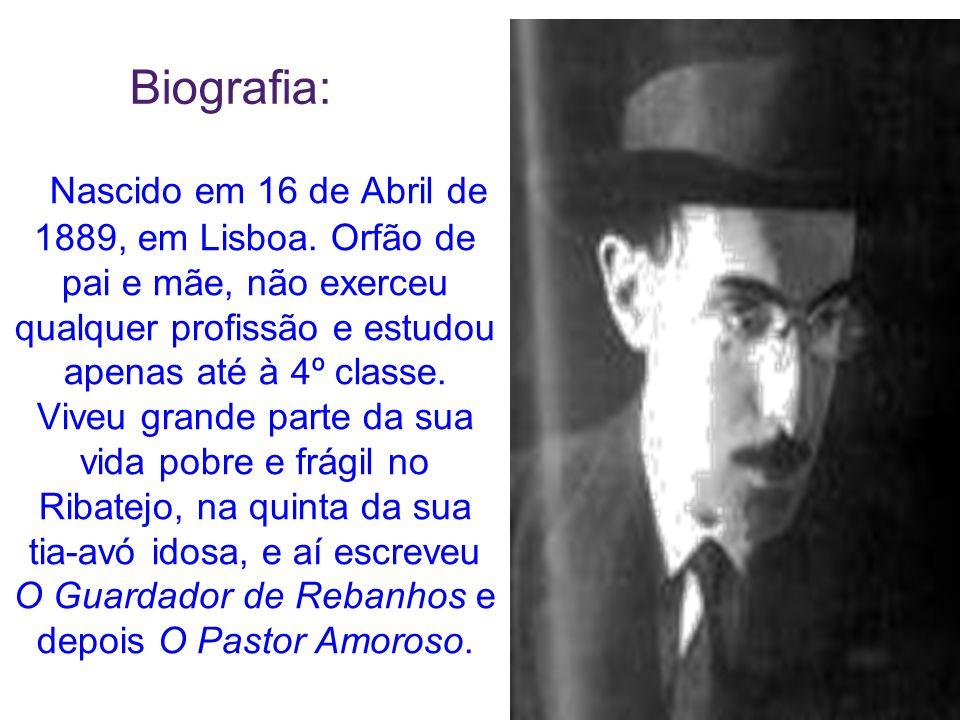 Nascido em 16 de Abril de 1889, em Lisboa. Orfão de pai e mãe, não exerceu qualquer profissão e estudou apenas até à 4º classe. Viveu grande parte da
