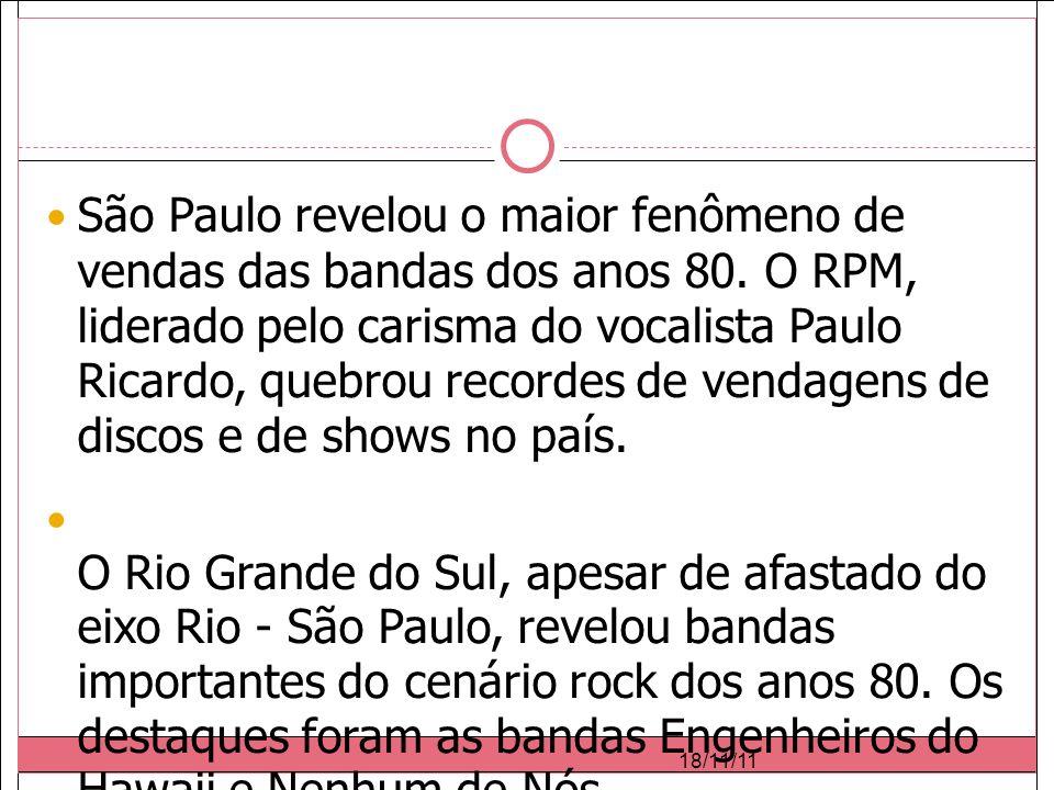 São Paulo revelou o maior fenômeno de vendas das bandas dos anos 80.