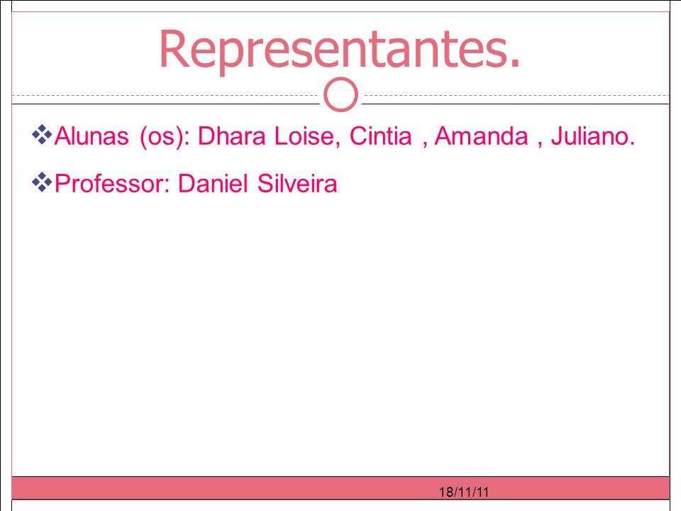 18/11/11 Representantes. Alunas (os): Dhara Loise, Cintia, Amanda, Juliano.