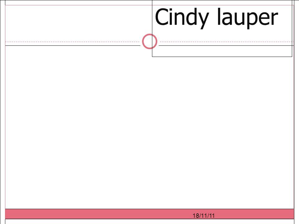 18/11/11 Cindy lauper