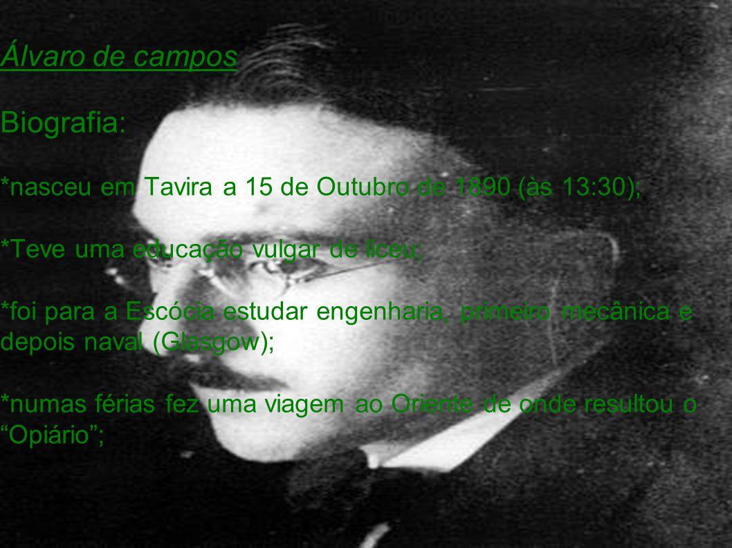 *um tio beirão que era padre ensinou-lhe Latim; *inativo em Lisboa; Fisicamente: *usa monóculo; *é alto (1.75 m); *magro, cabelo liso apartado ao lado; *cara rapada, tipo judeu português;