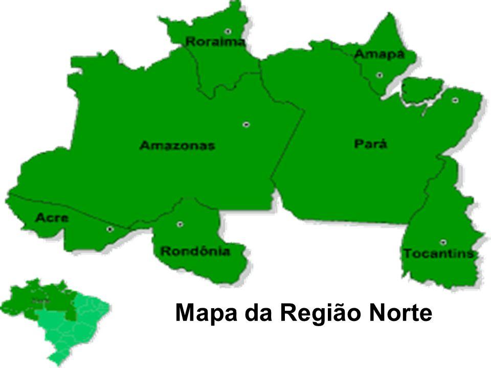Mapa da Região Norte