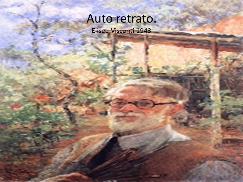 Auto retrato. Eliseu Visconti 1943