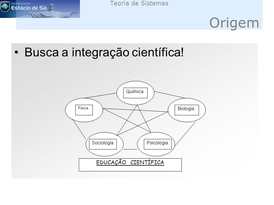 Busca a integração científica.