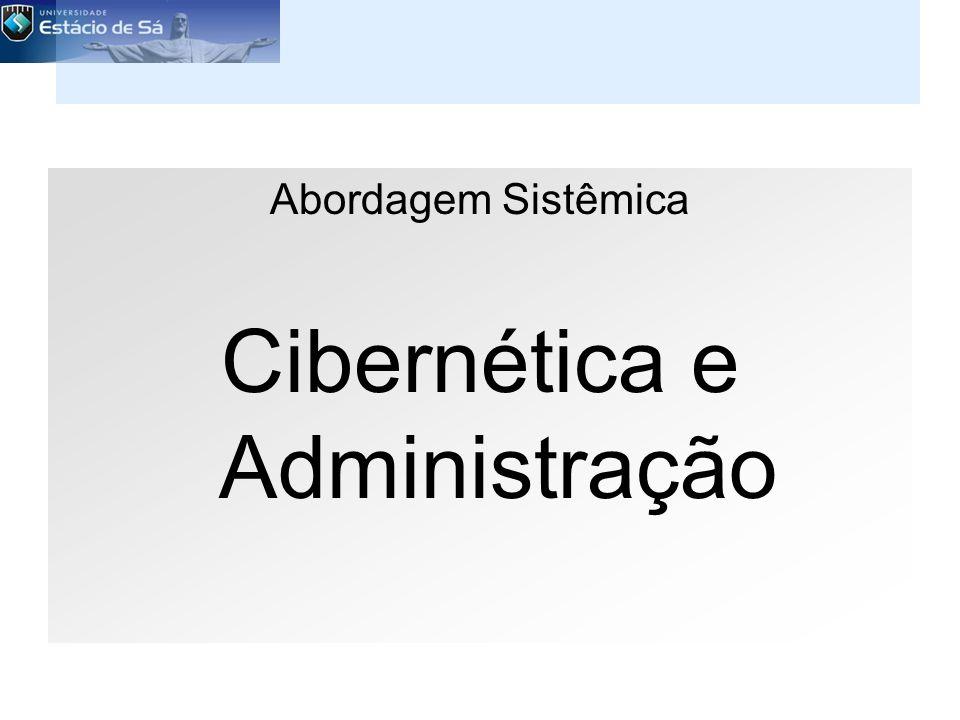 Abordagem Sistêmica Cibernética e Administração